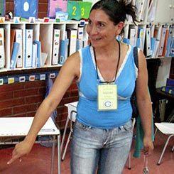 Elba Corea, a parent volunteer.