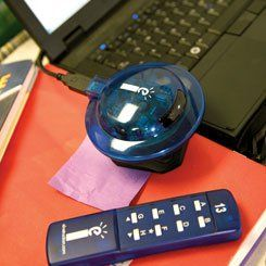 Classroom Performance System remote control device.
