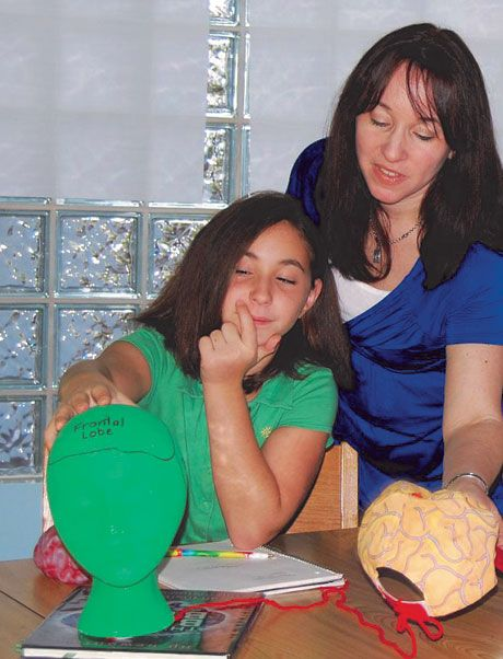 "In preparation for teaching, Nichole Galinkin and her daughter explore ""BIG secrets"" about the brain and learning."