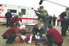 Stretcher Marks: Students at South Grand Prairie High School can earn a diploma -- and certification as an emergency medical technician.