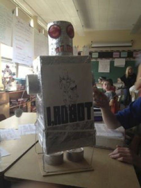 "The robot served as a trigger image for a student's ""aura."""