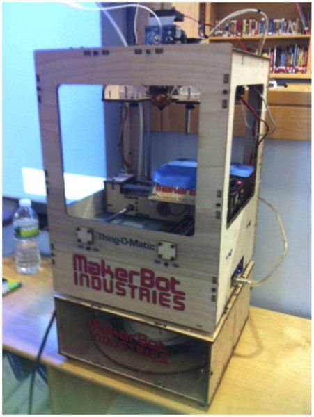 A MakerBot Thing-o-Matic 3D Printer at The School