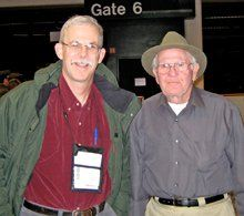 Jim Moulton and George Johnson (right)