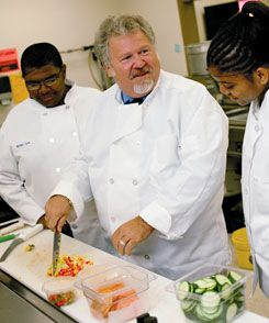 The Future Food of Service:  Great Kids Farm founder Tony Geraci works with students in the kitchen of the Great Kids Cafe. Geraci's field of dreams rose from 33 weed-choked acres outside of Baltimore.