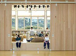 Framework for Learning:  Natural daylighting, sustainable flooring, and salvaged wood designed for disassembly combine to create an optimal educational environment.