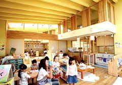 Free Space: An emphasis on unstructured play is an innovation in Japan. Open and cheerful design keeps the mood and methods light.