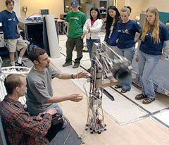 Students in Poudre High School's robotics program compete to build a better robot.