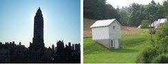 New York, New York -- a helluva town (left) Grandma's farm, Virginia (right)