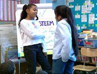 Research backs up assertions that role-playing lessons in self-awareness and empathy, like this one at Patrick Daly Elementary School in Brooklyn, lead to personal and academic success.