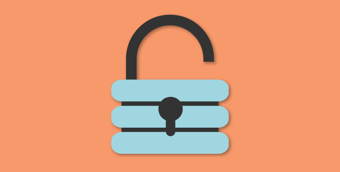 Graphic of an open padlock