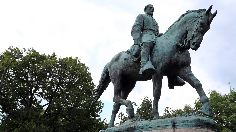 Statue of Robert E. Lee in Emancipation Park in Charlottesville, VA.
