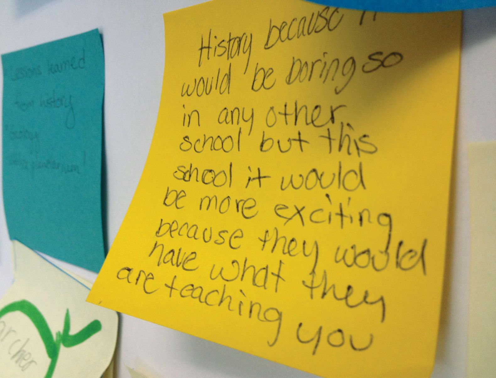 """Students seem to realize how unusual the school is—here's one of their responses to the question """"What would you learn?"""""""