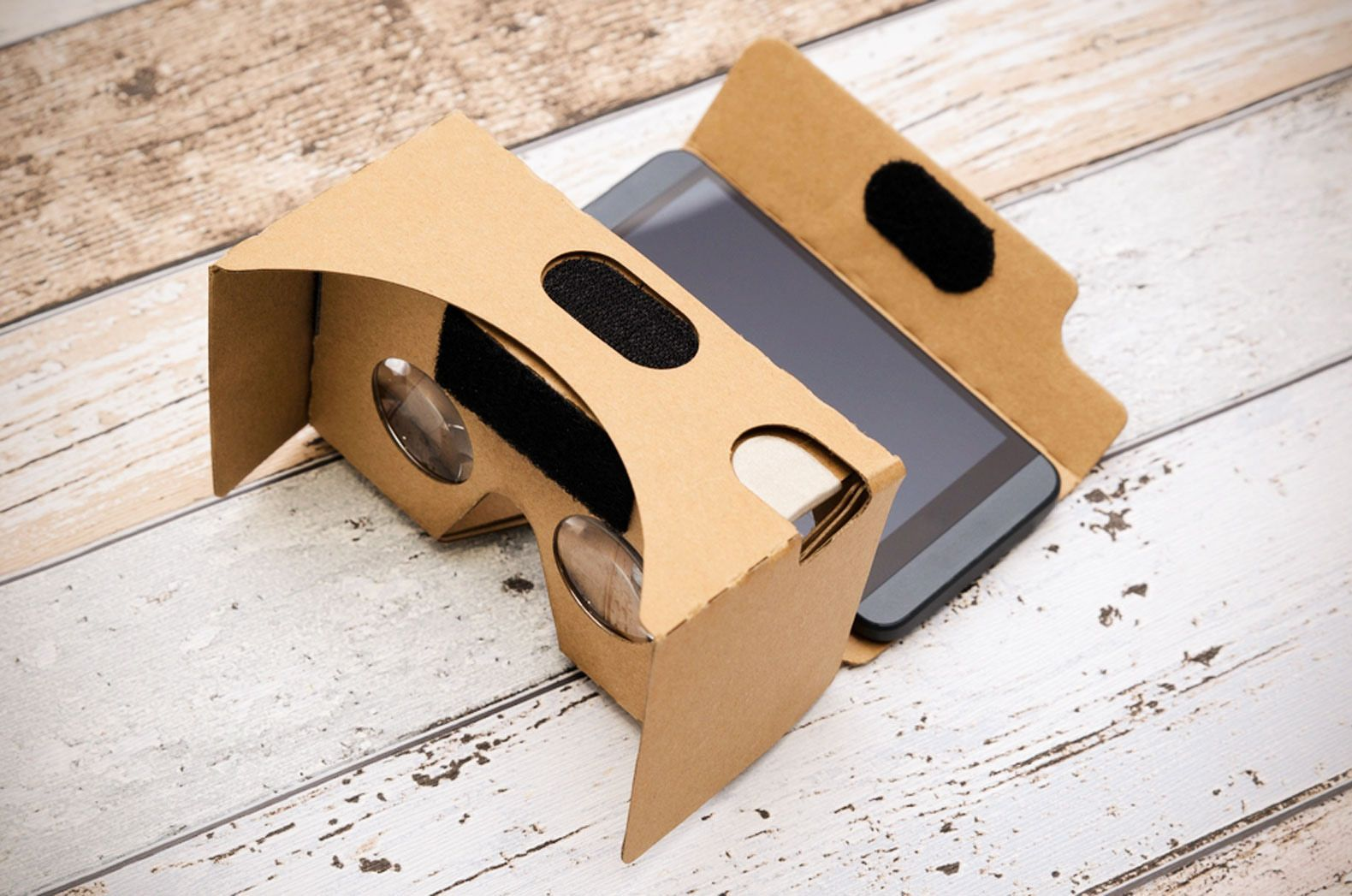 Because of its simple design, Google Cardboard can be used with most smartphones.
