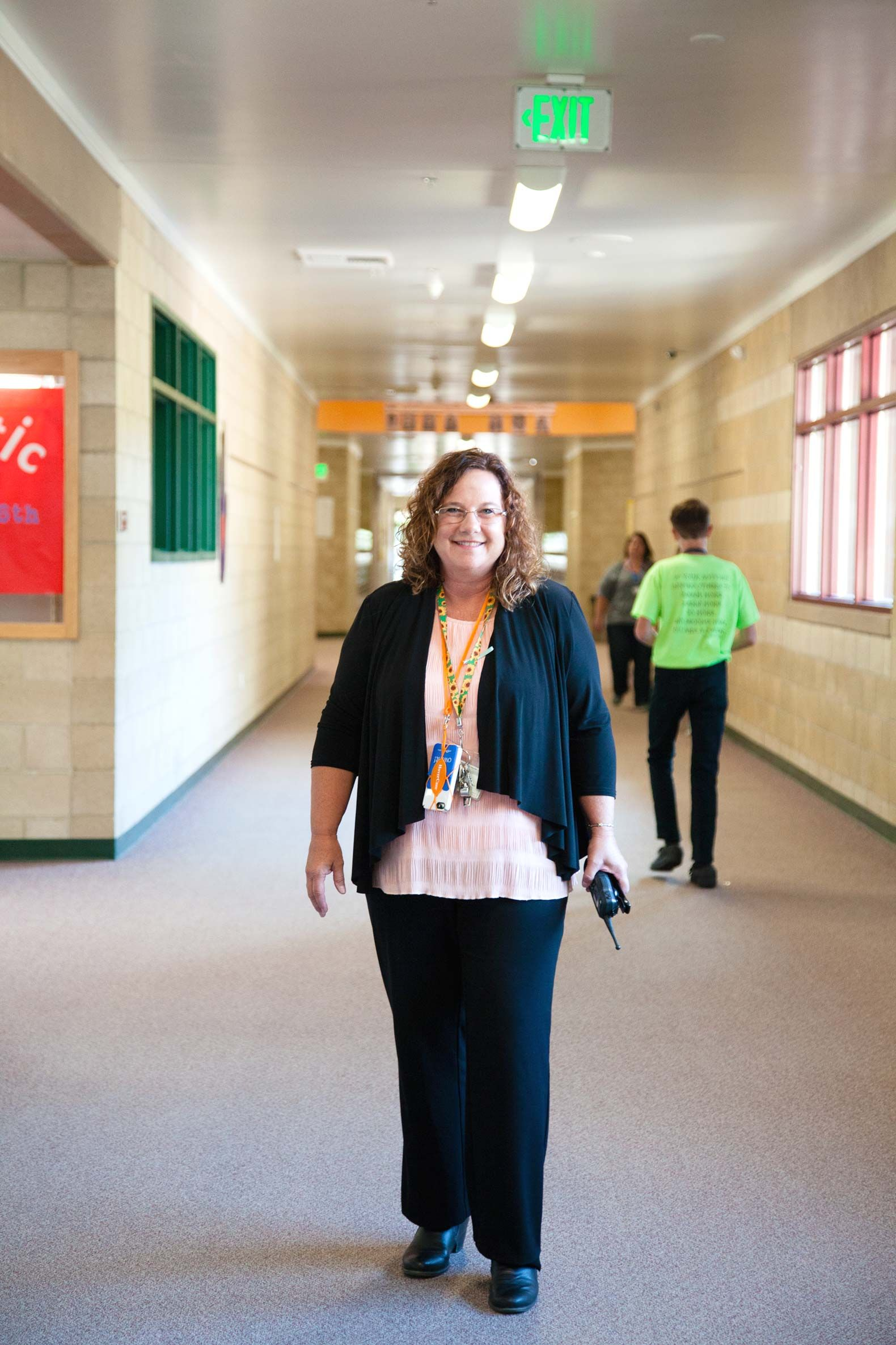 Principal Roberta Duvall walks the halls of Cold Springs Middle School. Duvall is one of the district's first administrators trained in SEL practices.
