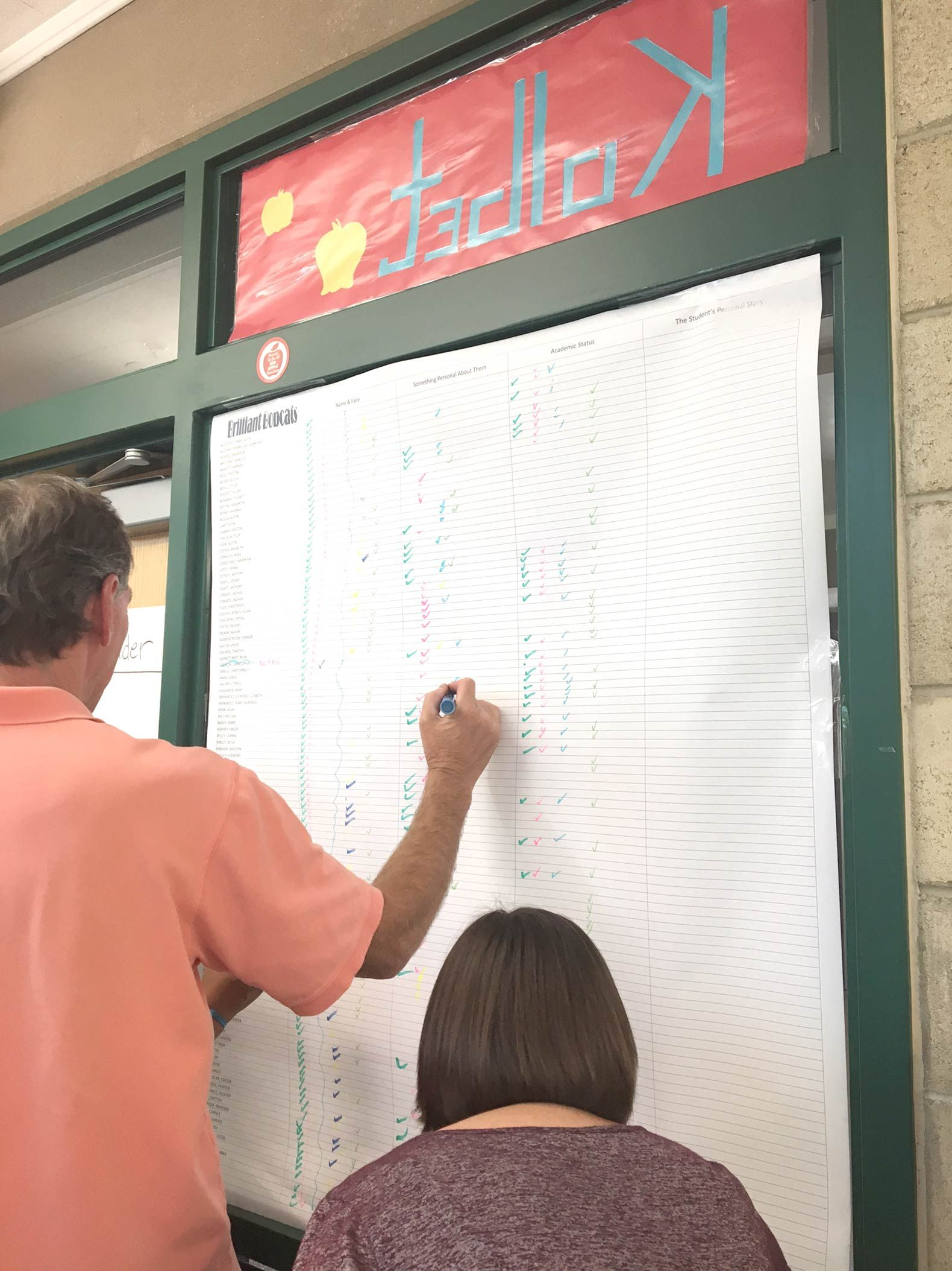 Cold Springs teachers use rosters to note what they know about their students.