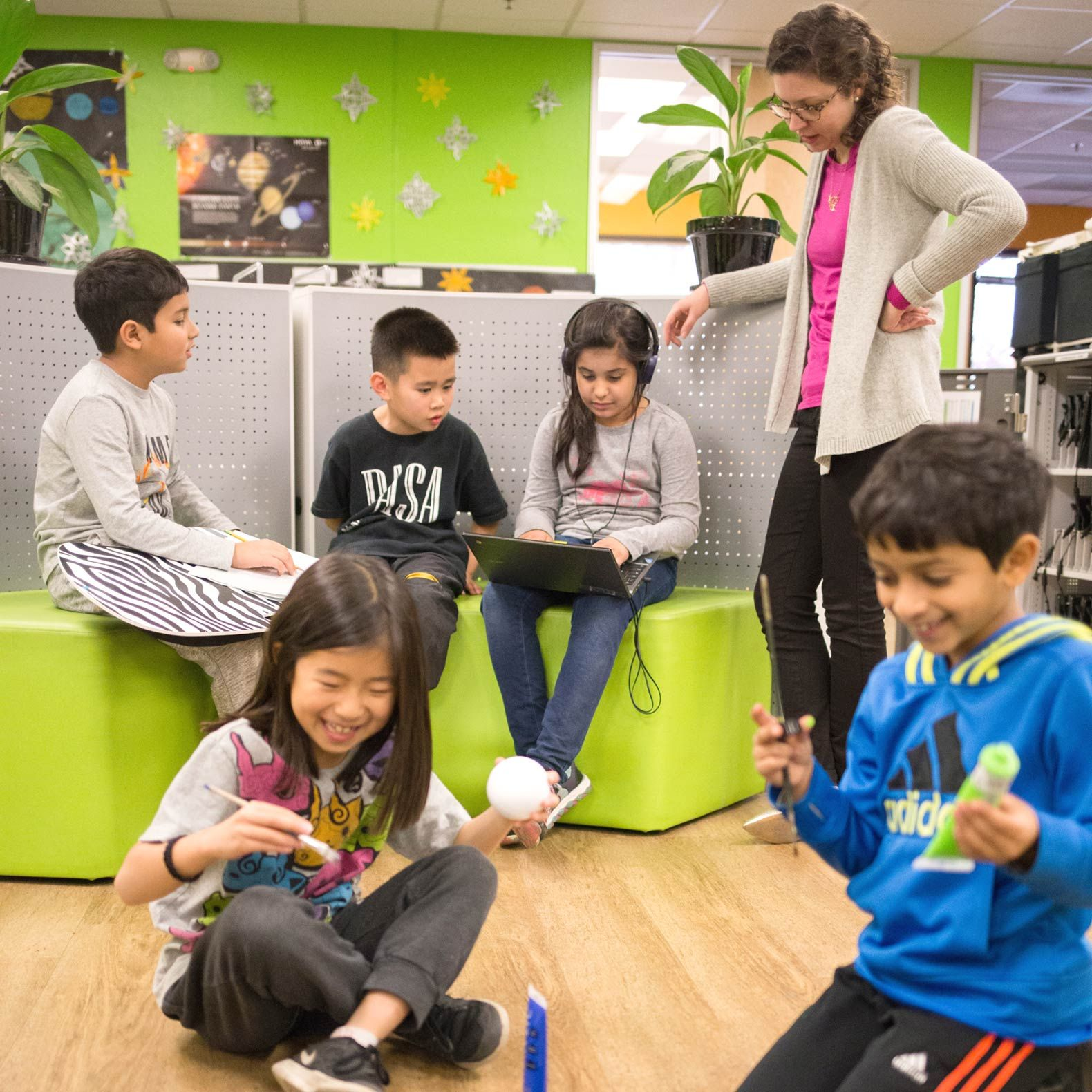Competency-based transcript proponents like the Khan Lab School, pictured here, believe the new assessments are necessary to foster 21st-century skills.
