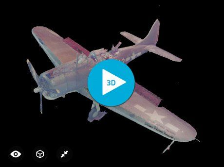 Pacific Aviation Museum's Dauntless Aircraft by Mid-Pacific Scans on Sketchfab