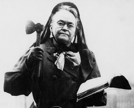 Eighth graders agreed that Carrie Nation was the craziest reformer.