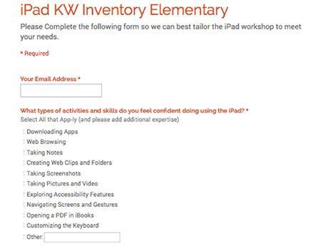 Sample Google Form for Elementary