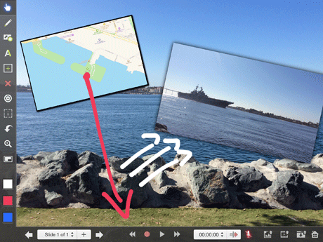 Photo, Screenshot, Video, and Annotations arranged in Explain Everything.