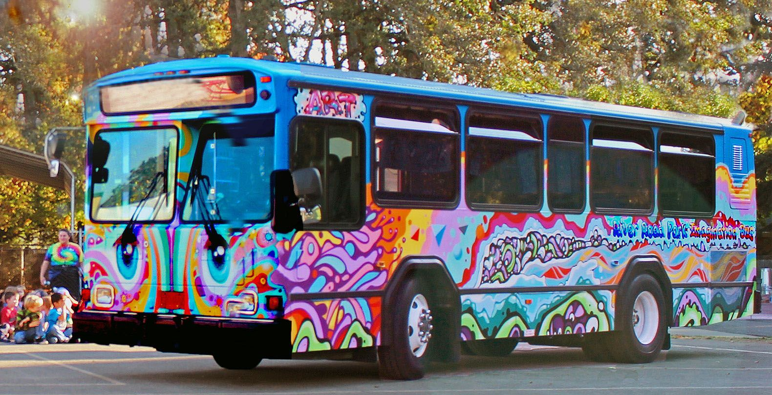 A transit bus turned art studio visits rural districts, low-income housing areas, and parks in and around Eugene to give kids access to art.