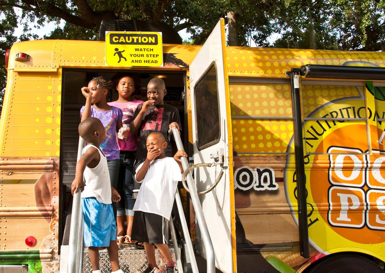 Orange County Public Schools in Orlando, Florida, serves over 1 million free meals each summer by bringing food to students by bus.