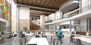 The multipurpose dining area at Wagner Middle School.