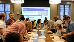 Teachers explore primary documents at the Duke University Rubenstein Library.