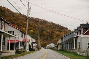A downtown street in Belfry, Kentucky