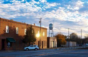 Latta, South Carolina, at twilight.