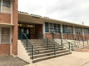 An exterior view of Samuel Houston Gates Elementary in San Antonio, Texas