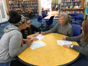 Brenda Fitzgerald meets with teachers for the Complete Reading Series.