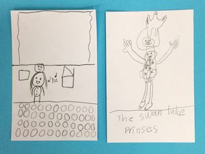Author-supplied sketches from student work showing conceptual thinking