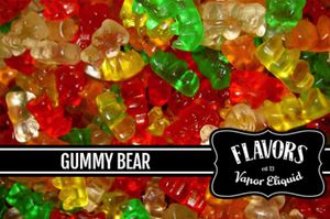 2013 Brand: Advertisement by Manufacturer: Vapor ELiquid for the flavor Gummy Bear
