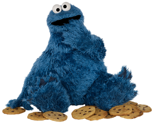 Cookie Monster from Sesame Street