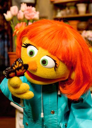 A photo of muppet Julia from season 47 of Sesame Street
