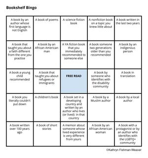 bookshelf bingo