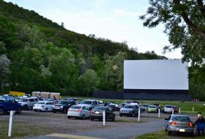 A drive-in movie theater in Wilkes-Barre, Pennsylvania.