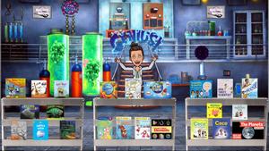 Mad scientist lab Bitmoji science library