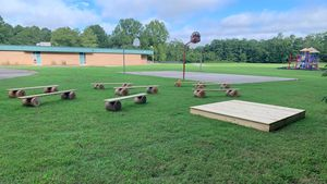 Outdoor classroom at North Rowan Elementary School
