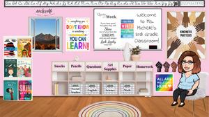 Michelle's bitmoji classroom