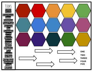 blank hexagonal thinking example