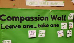 A Compassion Wall at Peter Faustino's school.