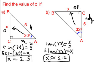 Graphic of math problem with annotations