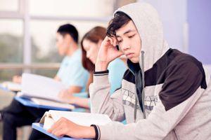 Bored high school student