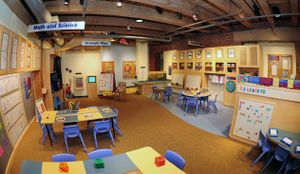 The kindergarten exhibit at the Boston Children's Museum.
