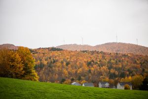 Fall foliage in Fletcher, Vermont.