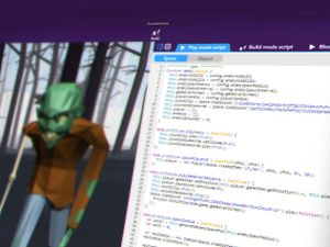 Students program a monster through CoSpaces.