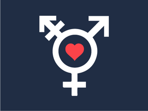 Illustration of gender symbols connected by a circle