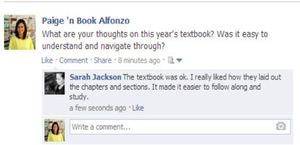 Screen grab of a Facebook post